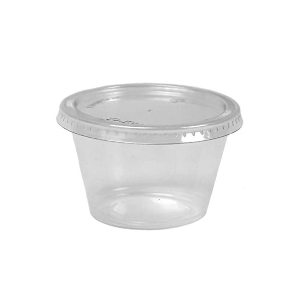 Dart Container Clear 2 oz Plastic Portion (a pack of  500 Lid and Base)
