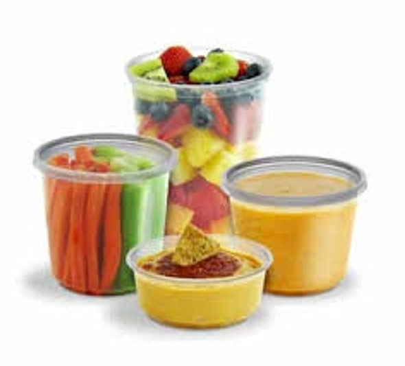 Anchor Microlite CD08CR Container and lids 237 ml 8oz (a pack of 250)