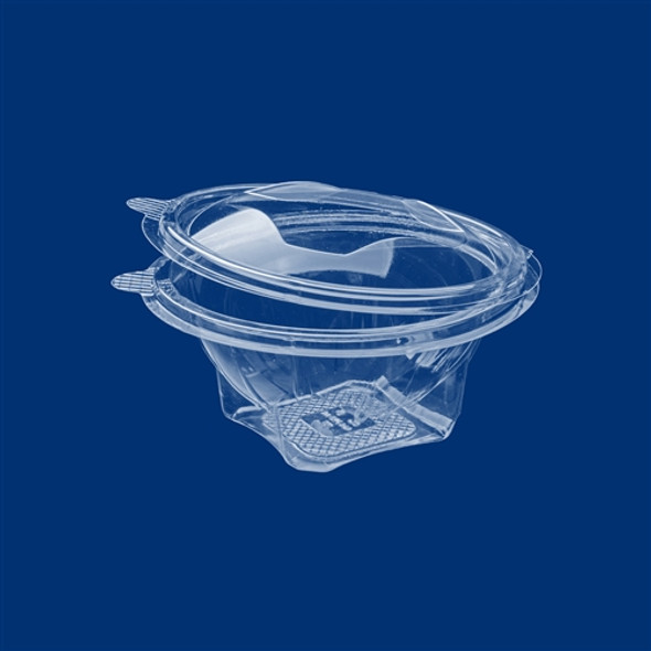 Salad container Round Clear Hinged Salad Bowl ,Nuts Container K-RO 750 [750cc] (a pack of 300)