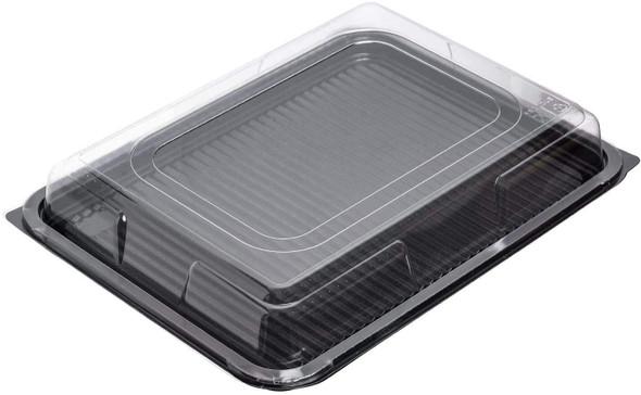 Plastic Platter Medium Rect.[390x295mm] Black Base (a pack of 50)