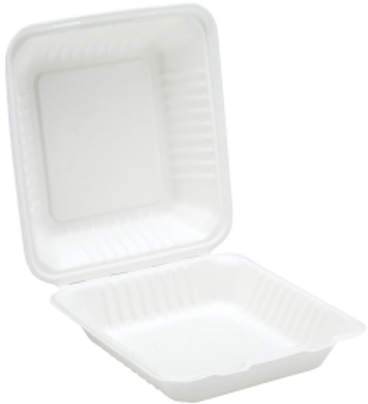 Bagasse, biodegradable 9'' Clamshell Meal Box (a pack of 200)