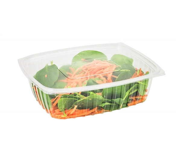 Eco Somoplast [660] Clear Hinged Rect. Container [600cc] Shallow (a pack of 500)