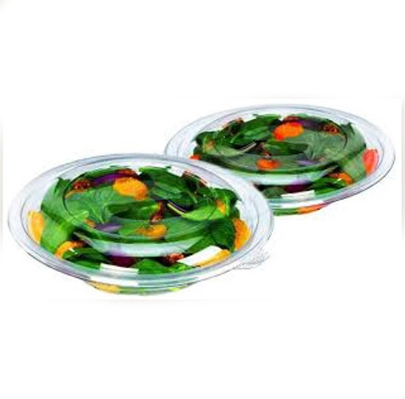 Somoplast [989] Round Clear Salad Bowl [24oz] (a pack of 150)