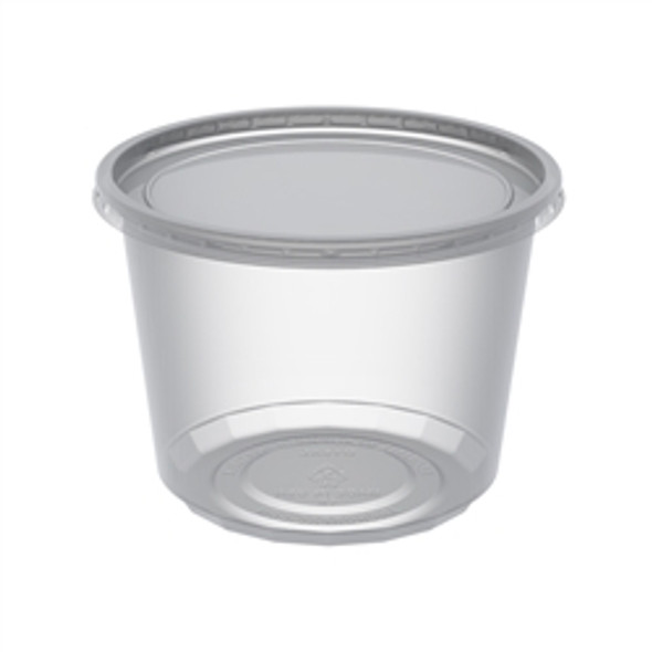 Dart Container Clear 1 Oz Plastic Portion (a pack of  500 Lid and Base)