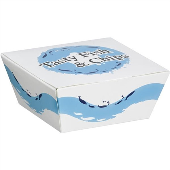 Small Tasty Fish & Chips Box (a Pack of 500)