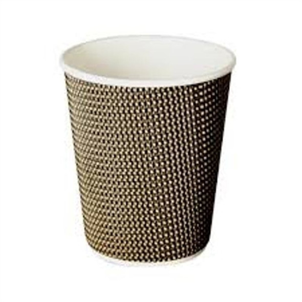 Signature VIP Paper Cup 12oz, Insulated Rippled Paper Cup for Hot Drink (a pack of 500)