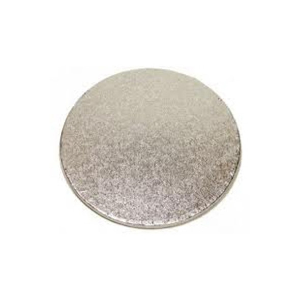 Cake Card Silver Round [8inch] (a pack of 100)