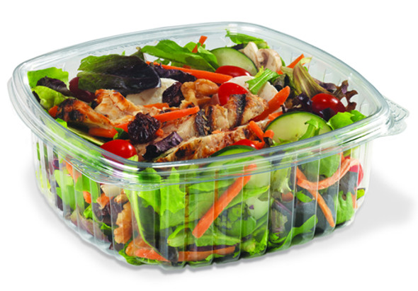 Oval Clear Hinged Salad,Nuts, Container 616 [375cc] (a pack of 640)