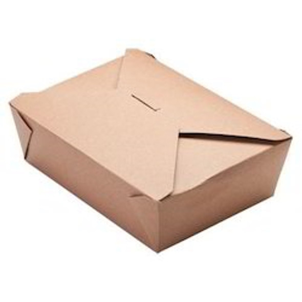 Biodegradable Container No 5 Brown [150x120x50mm] (a pack of 150)