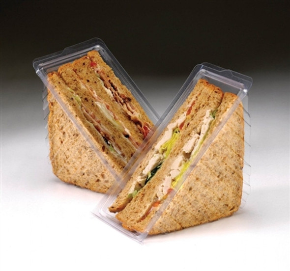 Triple Wide Hinged Plastic Sandwich Wedge [ZZ060] (a pack of 400)