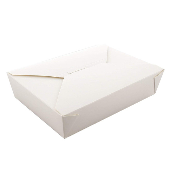 Biodegradable Leakproof Paper Meal Box No 2 White 36oz (1125ml) (a pack of 250)