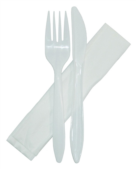 Disposable Cutlery Pack Cutlery Pack (Napkin, Fork, Knife) (a pack of 250)