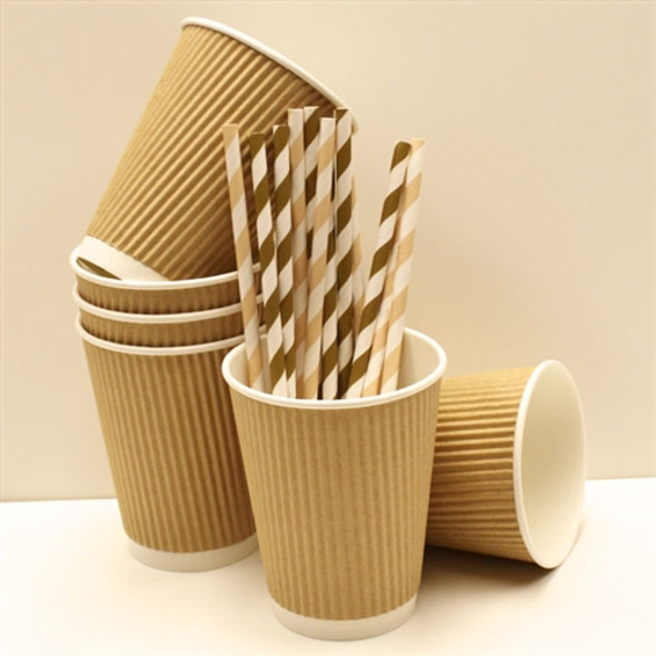 Go-Pak Ripple Kraft Paper Cup Hot [4oz] (a pack of 1000)