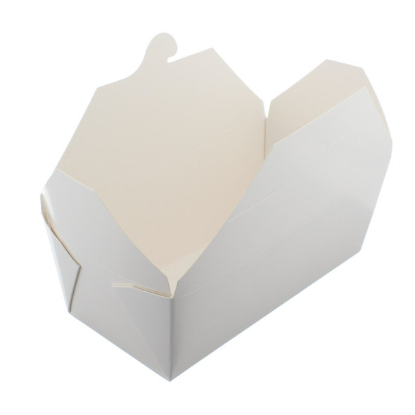 Biodegradable Leakproof Paper Meal Box No 6A White (a pack of 675)