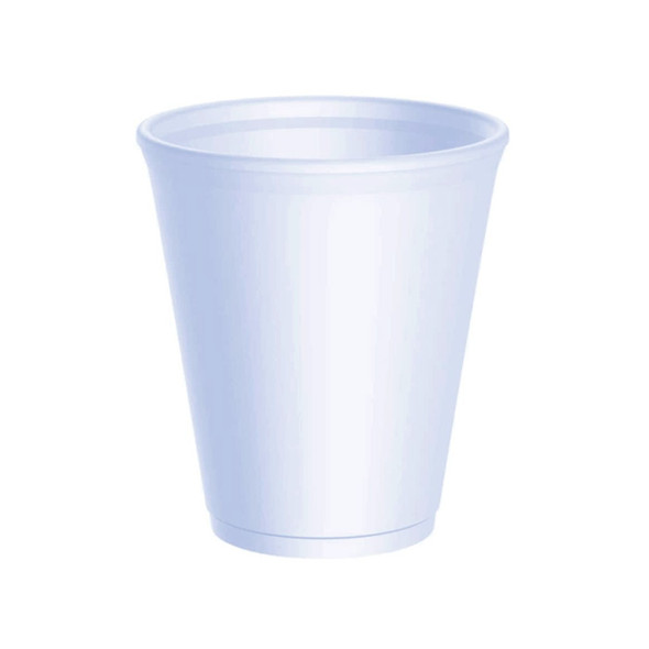Dart [8LX8] Polystyrene Cup White [8oz] (237ml) (a pack of 1000)