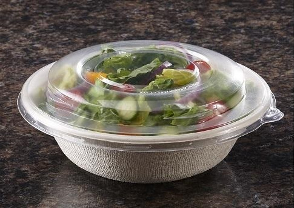 Sabert Domed RPET LID for Wide Round PUL 54124,Pulp Bowls PUL5112090D300 (Pack of 300)