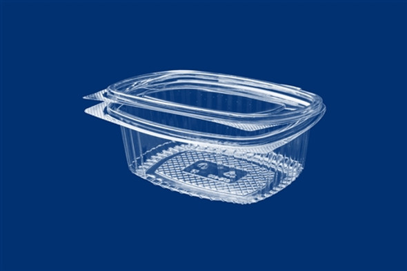 Clear Hinged Salad,Nuts Container 450cc (a pack of 640)