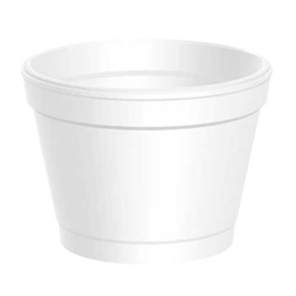 Dart [4J6] Polystyrene Container White [4oz] (118ml) (a pack of 1000)