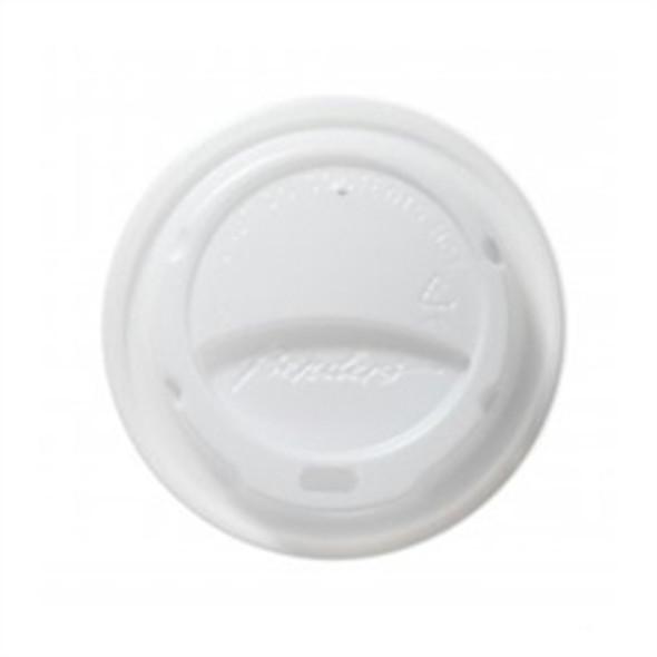 Bender Hot Plastic Lid [12oz & 16oz] White Domed (a pack of 1000)