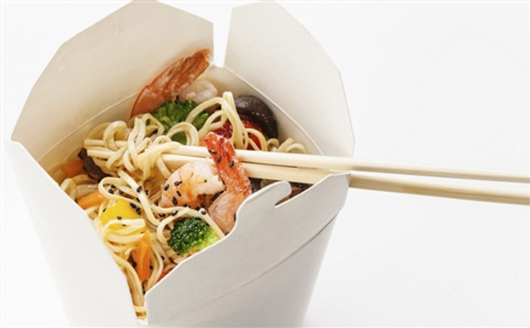 Leakproof White Noodle Box 26oz [D42130] (a pack of 500)