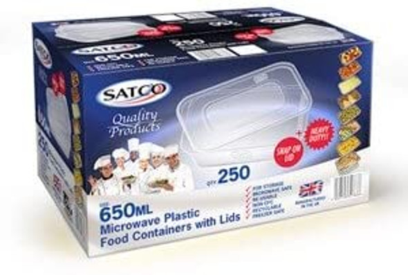 Satco Microwave Container & Lid 650 ml (a pack of 250)