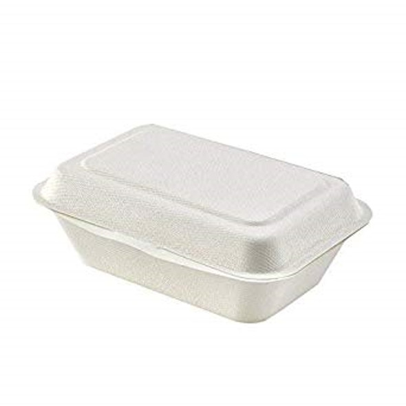 Bagasse 7'' x 4'' x 2'' Regular Clamshell [HP7BFC] ( a pack of 250)