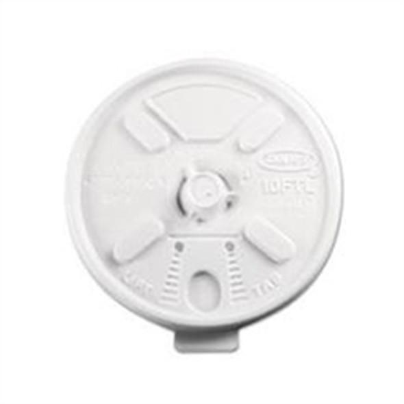 Dart [10FTL] Plastic Lid Lift n' Lock White [10oz] (a pack of 1000)