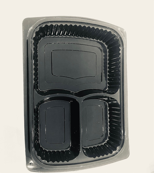 Somoplast [824] Black 3comp Microwavable Container [750cc] (a pack of 260)