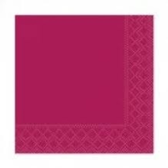 Poppies Napkin Bordeaux 2ply [24x24cm] (a pack of 4000)