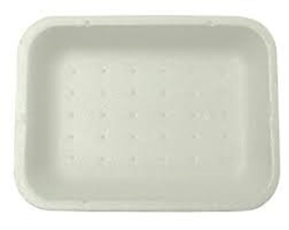 Linpac [2D] Polystyrene White Tray 178x133x25mm] a pack of 1000