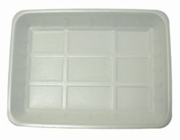 Linpac [J4] Polystyrene White Tray [318x235x35mm] a pack of 250
