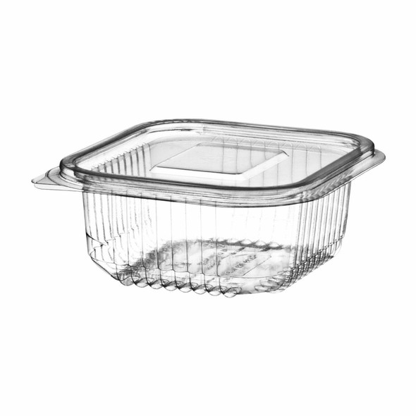 Somoplast [918] Clear Hinged Rect. Container [600cc] Deep (a pack of 600)
