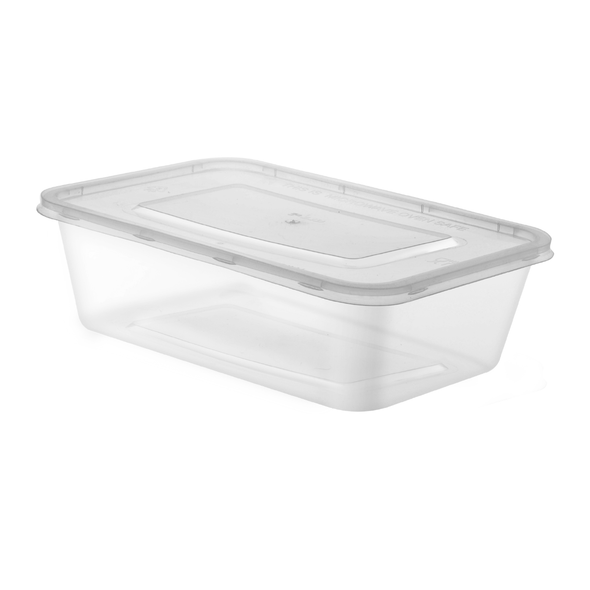 Packit  Microwave Container & Lid [500ml] (a pack of 250)