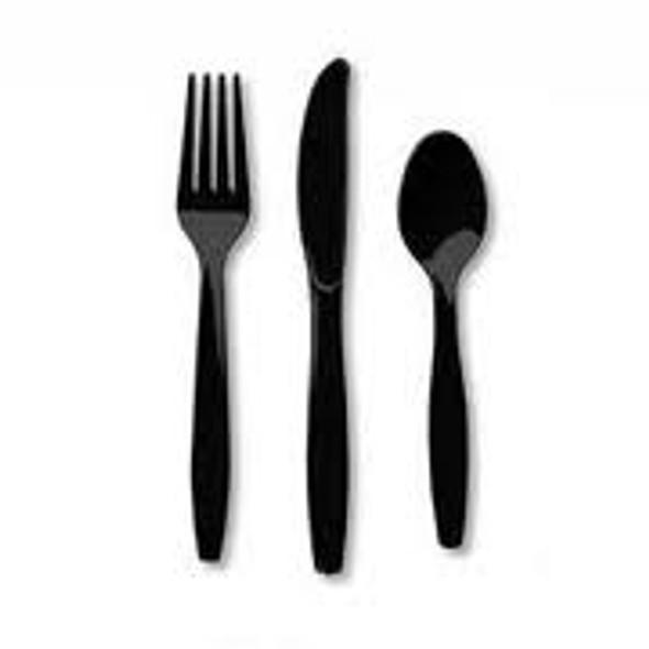 Plastic Black Forks (a pack of 1000)
