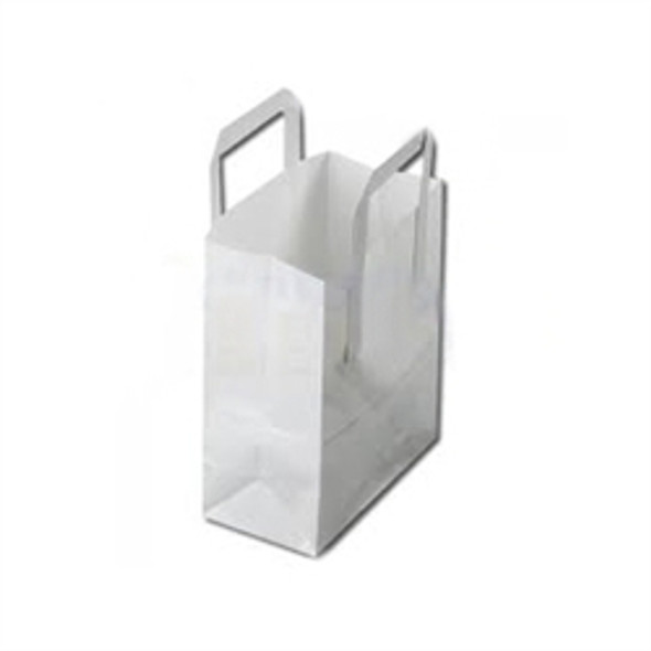 White Paper Carrier Bag Small [7x10.5x9inch] (a pack of 500)
