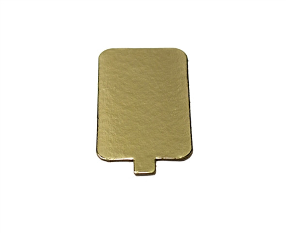 Single Cake Card Gold Rectangular 6.5x10.5cm (a pack of 1000)