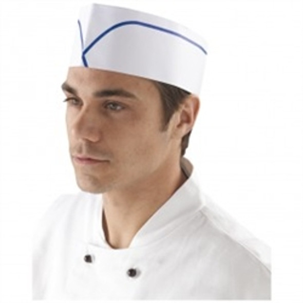 Forage Hat White and Blue Striped (a pack of 100)