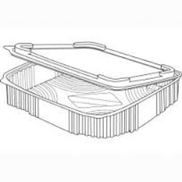 Somoplast 702 Clear Hinged Square Container 170x170x115mm(a pack of 250)