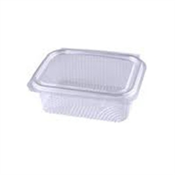 Somoplast [915] Clear Hinged Rect. Container [250cc] Flat (a pack of 640)