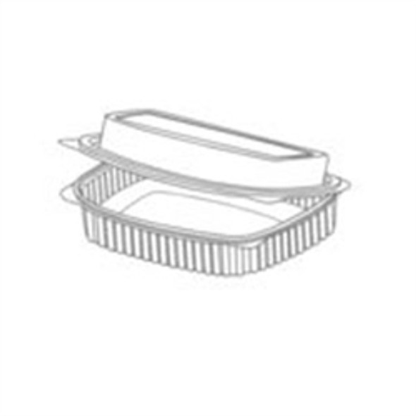Somoplast [915] Clear Hinged Rect. Container [250cc] Domed (a pack of 640)