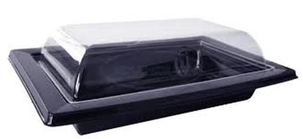GPI Black Sushi Tray & Lids (RAV181N) 170x105x47mm (a pack of 200)