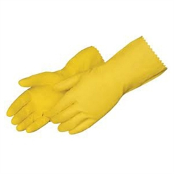 Rubber Gloves [Large] Yellow (a pack of 12)