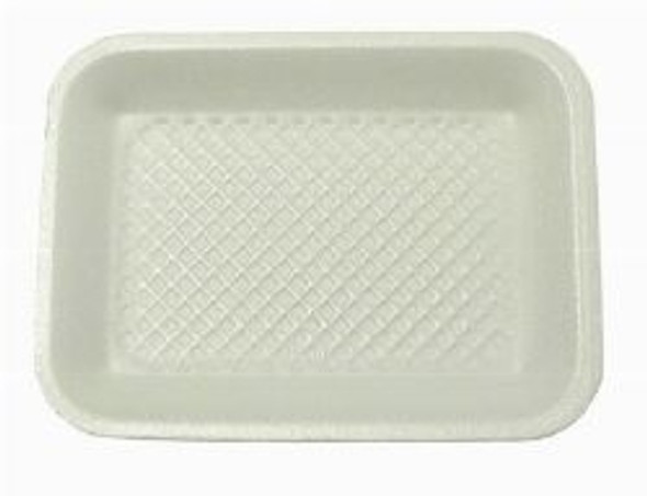 Linpac [14M] Polystyrene White Tray [216x178x16mm] a packs of 500
