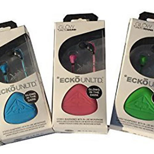 Ecko EKU-GLW- Glow In-Ear Earphones