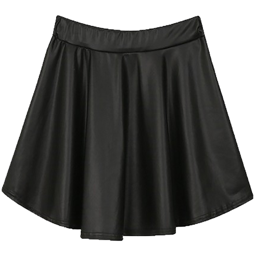 Forever 21 Juniors Black Faux Leather Skirt