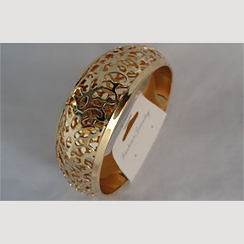 Gold Uncut Fashion Jewelry Bangle Bracelet