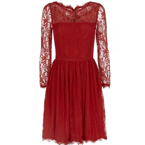 Juicy Couture Red Lace Dress - Front