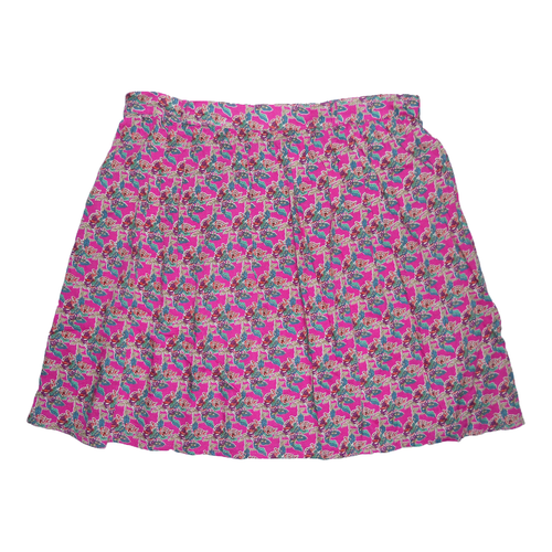 Mossimo Fushia Pink Multi color floral Skirt