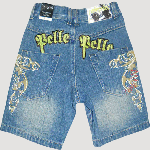 Pelle Pelle Toddler Boys' Adjustable Waist Short Jeans
