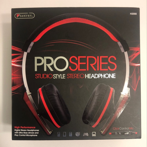 H2000 Pro Series Studio Style Stereo Headphone by Sentry